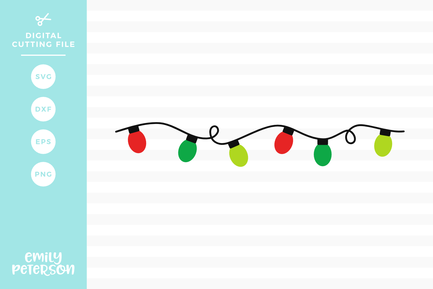 christmas light svg #603, Download drawings