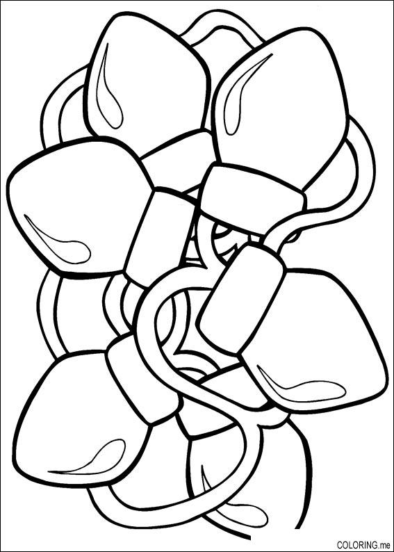 Christmas Lights coloring #12, Download drawings