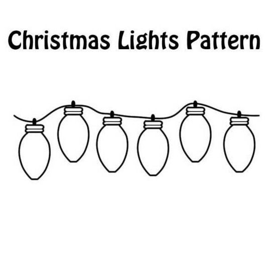Christmas Lights coloring #16, Download drawings