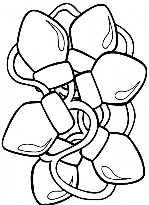 Christmas Lights coloring #15, Download drawings