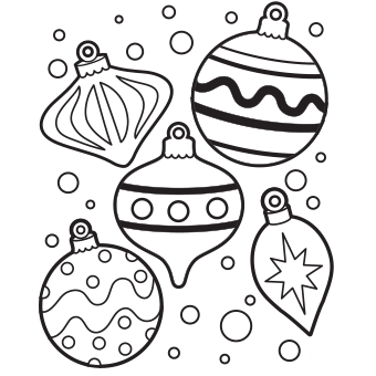 Christmas Ornaments coloring #19, Download drawings