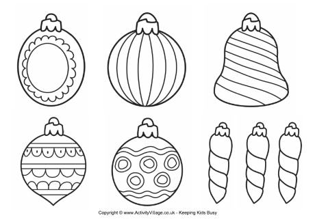Christmas Ornaments coloring #3, Download drawings