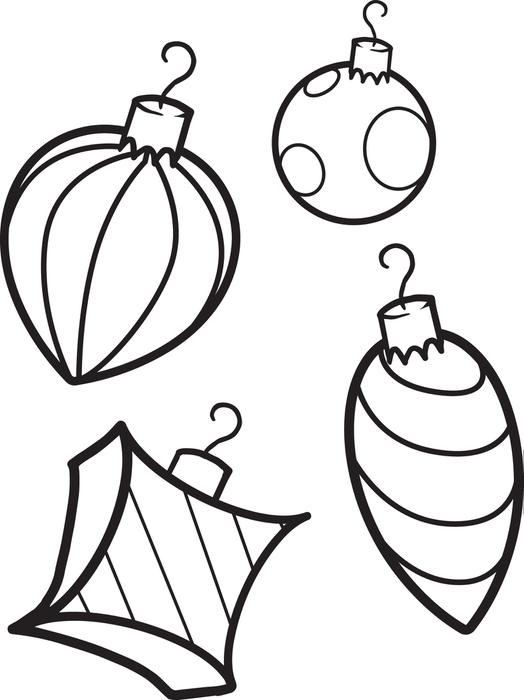 Christmas Ornaments coloring #8, Download drawings