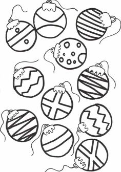 Christmas Ornaments coloring #2, Download drawings
