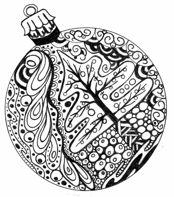 Christmas Ornaments coloring #4, Download drawings