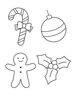 Christmas Ornaments coloring #13, Download drawings