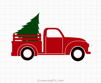christmas tree truck svg #1095, Download drawings