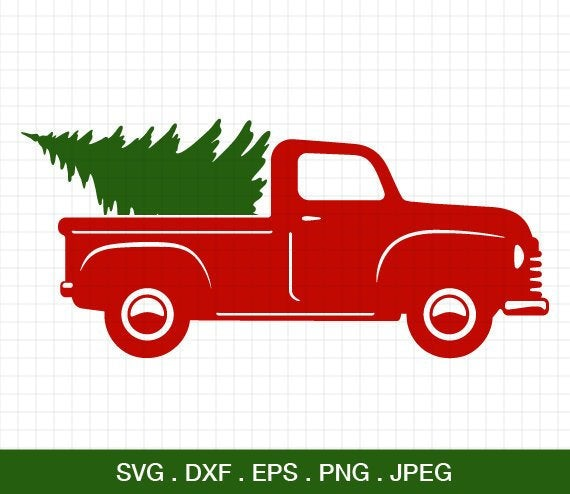 christmas tree truck svg #1082, Download drawings