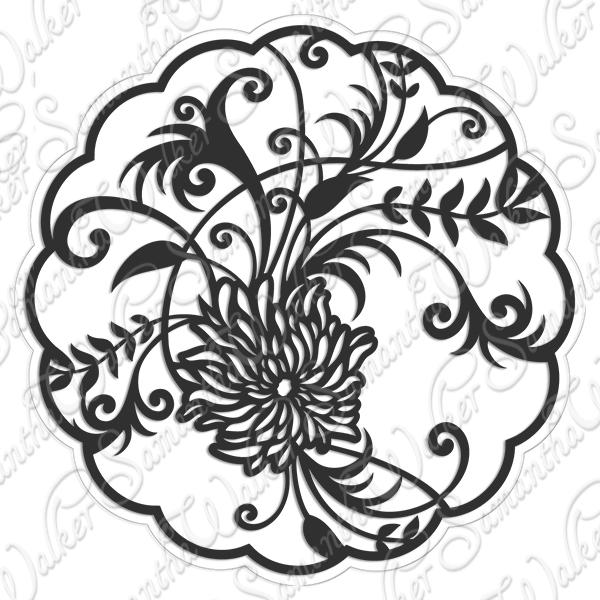 Chrysanthemum svg #2, Download drawings