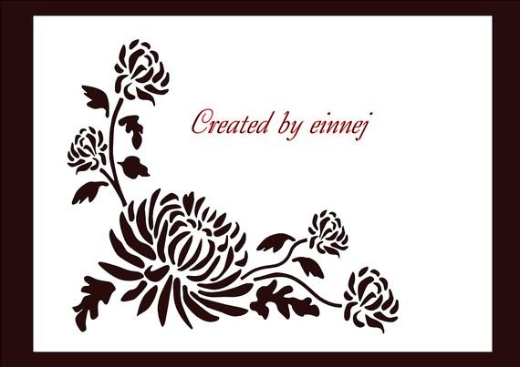 Chrysanthemum svg #3, Download drawings