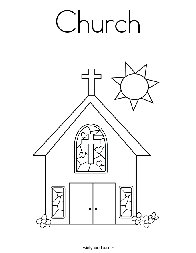 Church coloring #19, Download drawings