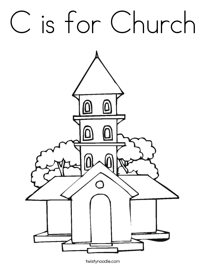 Church coloring #11, Download drawings