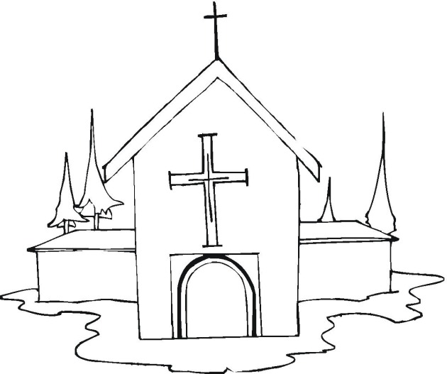 Church coloring #6, Download drawings
