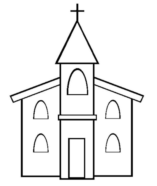 Church coloring #18, Download drawings