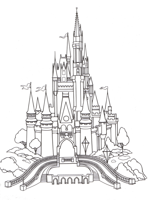 Cinderella's Castle coloring #10, Download drawings