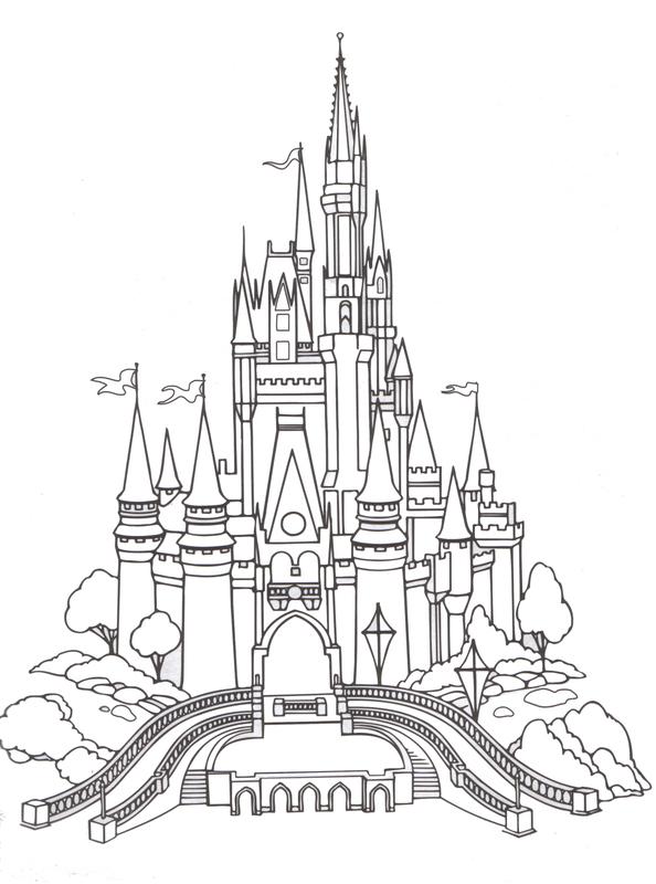 Cinderella's Castle coloring #10, Download drawings