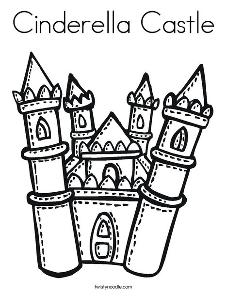 Cinderella's Castle coloring #16, Download drawings