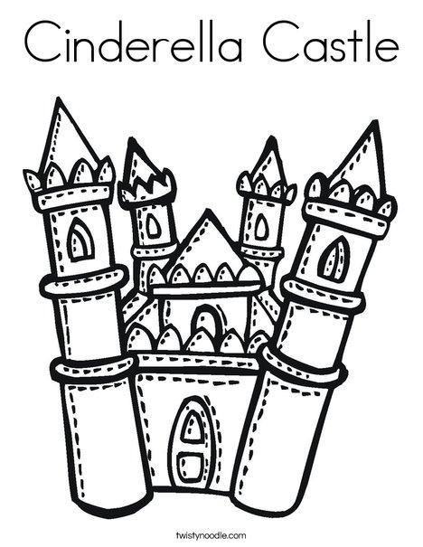 Cinderella's Castle coloring #16, Download drawings