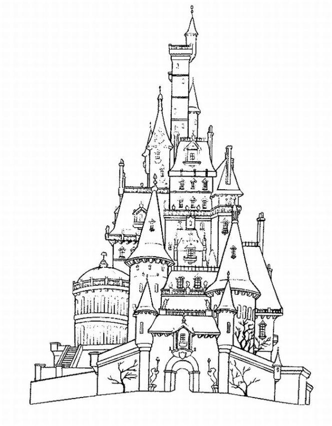 Cinderella's Castle coloring #5, Download drawings