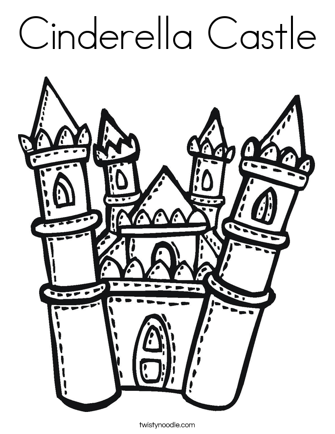 Cinderella's Castle coloring #8, Download drawings