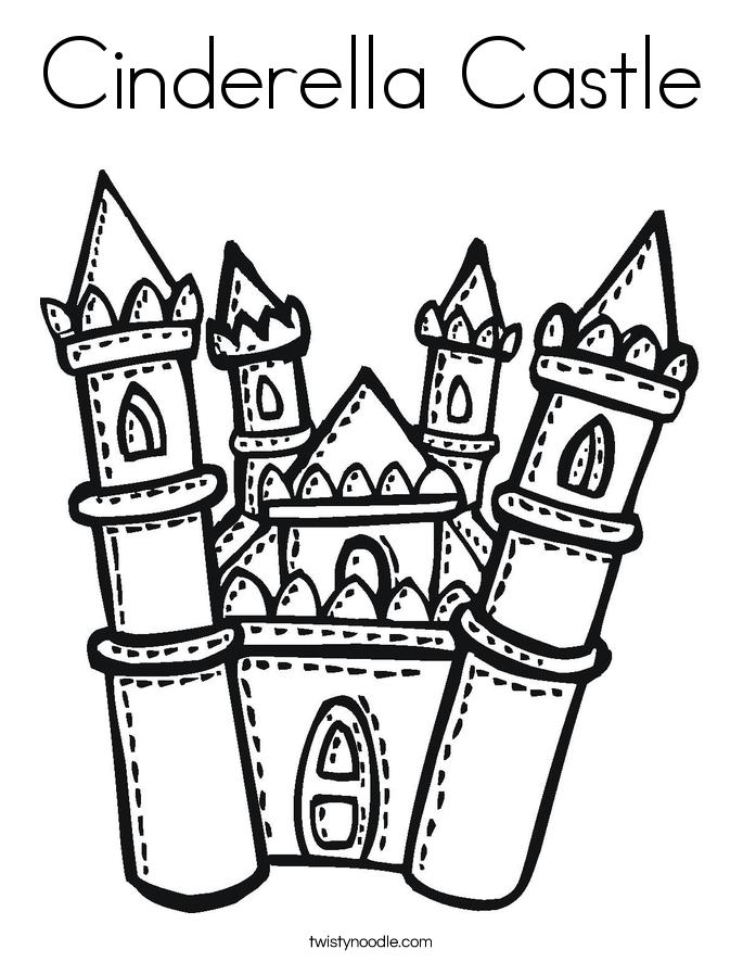 Cinderella's Castle coloring #8, Download drawings