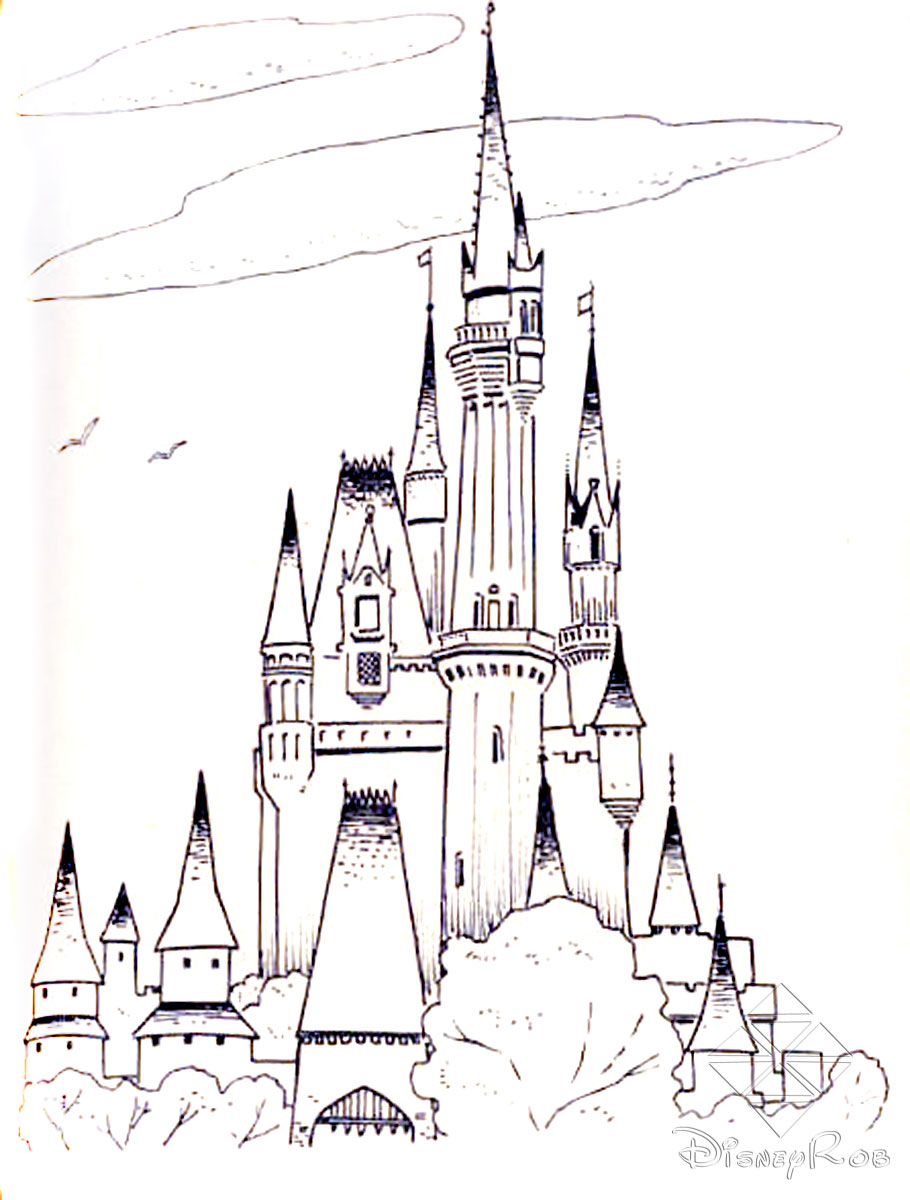 Cinderella's Castle coloring #11, Download drawings