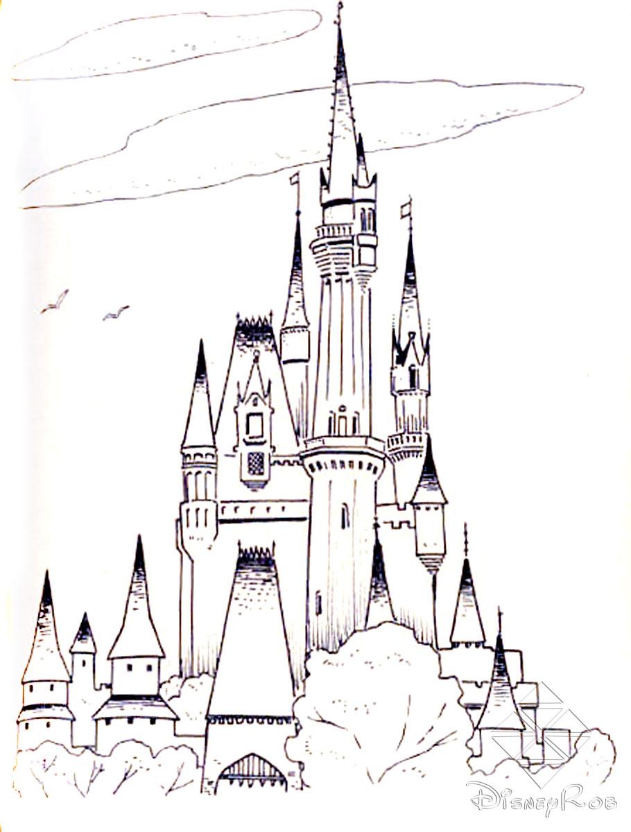 Cinderella's Castle coloring #11, Download drawings