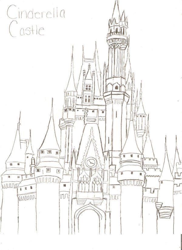 Cinderella's Castle coloring #4, Download drawings