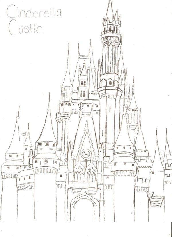 Cinderella's Castle coloring #4, Download drawings