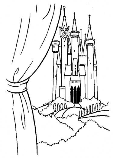 Cinderella's Castle coloring #9, Download drawings