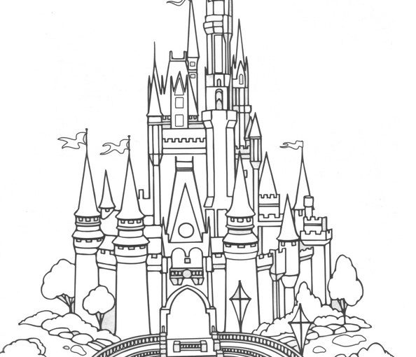 Cinderella's Castle coloring #18, Download drawings