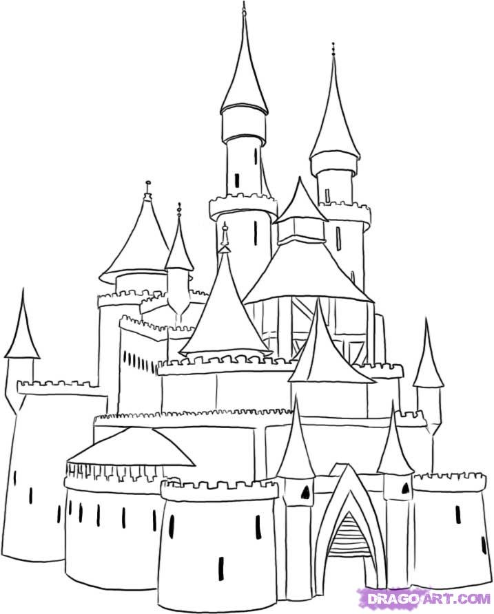 Cinderella's Castle coloring #15, Download drawings
