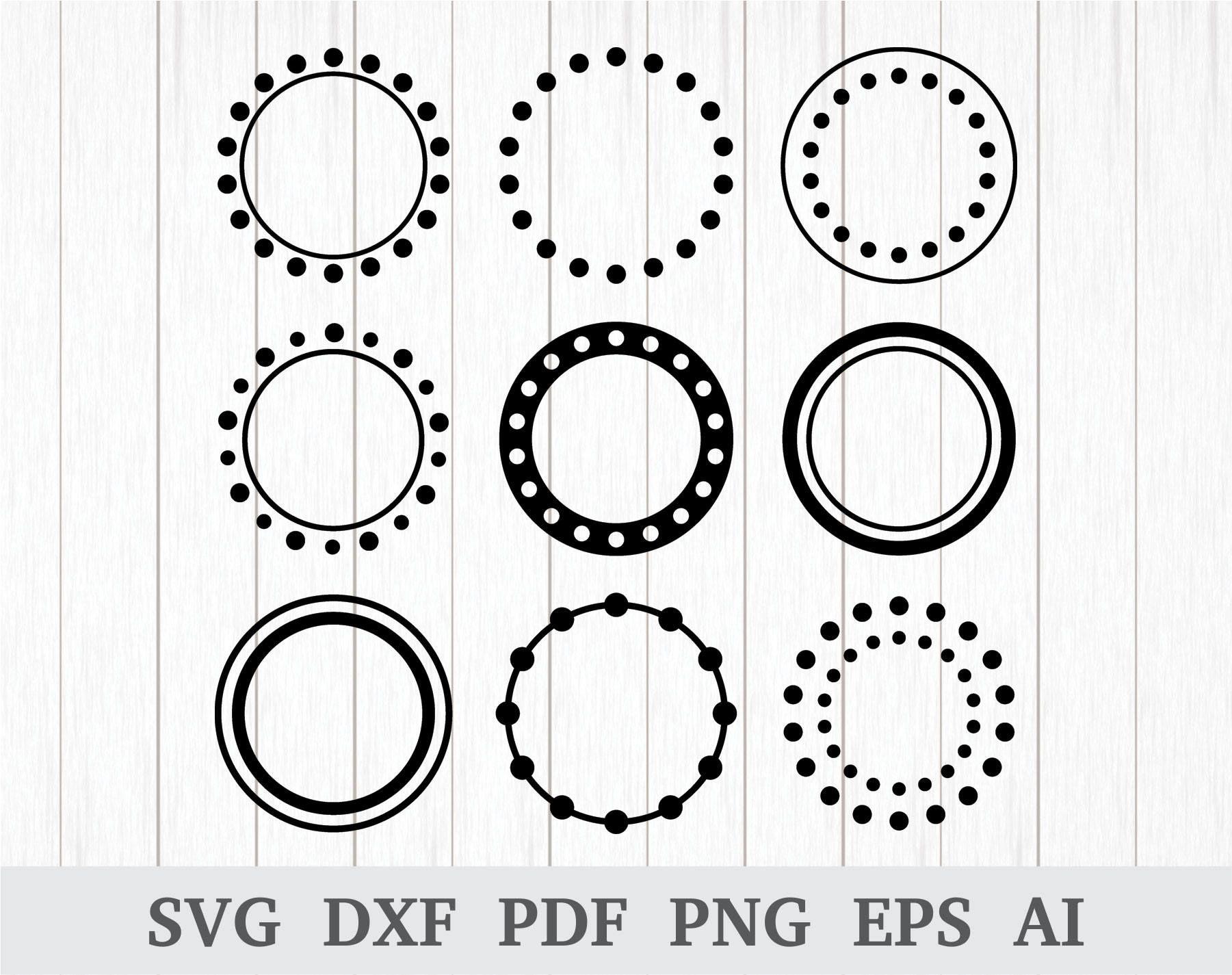 circle frame svg #1059, Download drawings