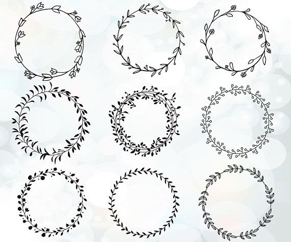 circle wreath svg #109, Download drawings