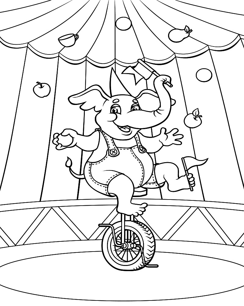 Circus coloring #3, Download drawings