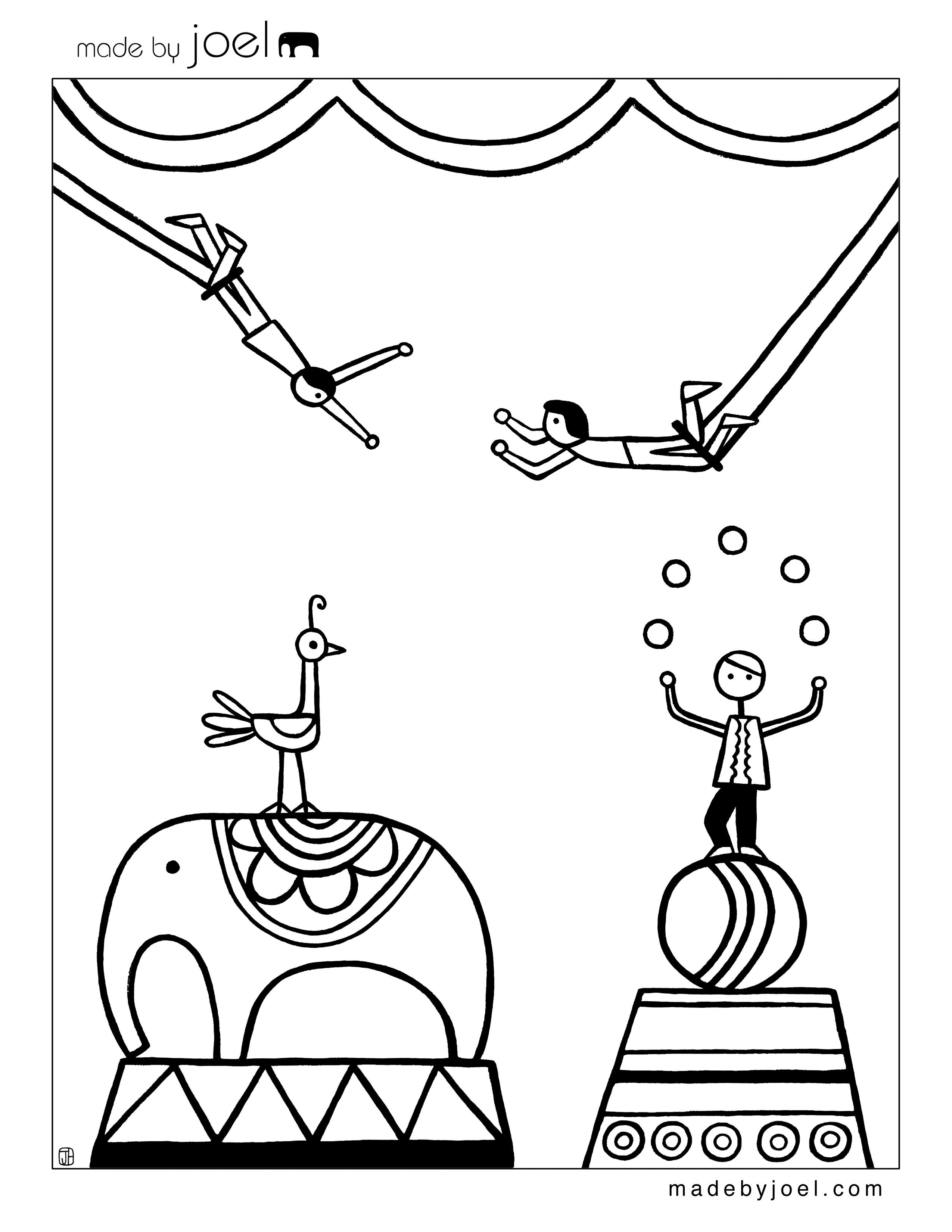 Circus coloring #5, Download drawings