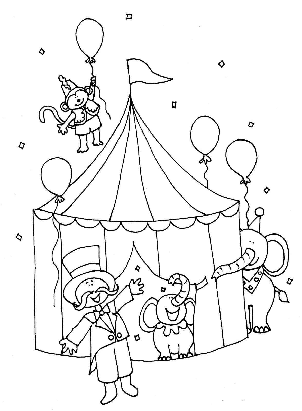 Circus coloring #13, Download drawings