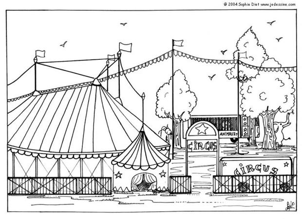 Circus coloring #7, Download drawings