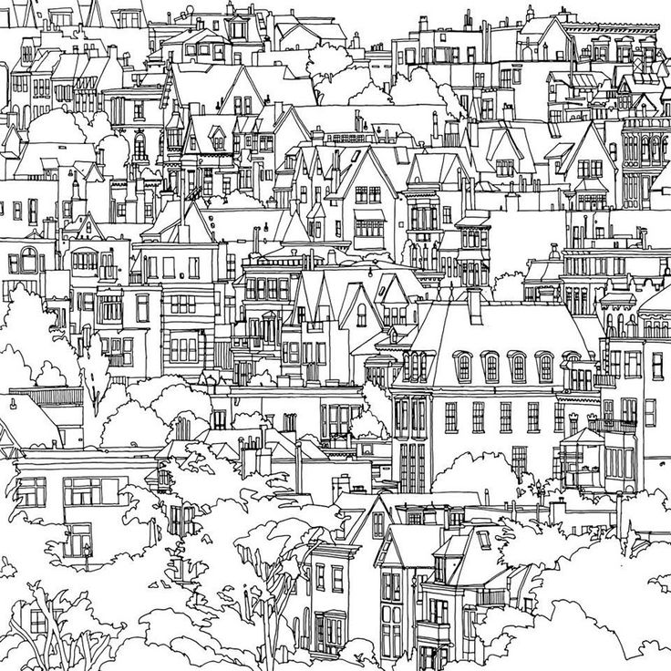 City coloring #6, Download drawings