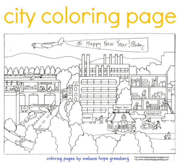 City coloring #15, Download drawings