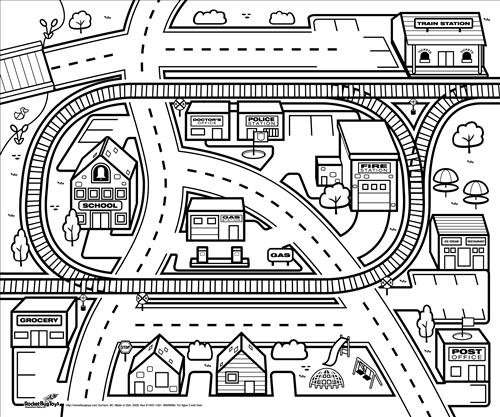 City coloring #16, Download drawings