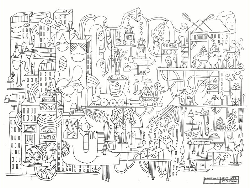 City coloring #9, Download drawings