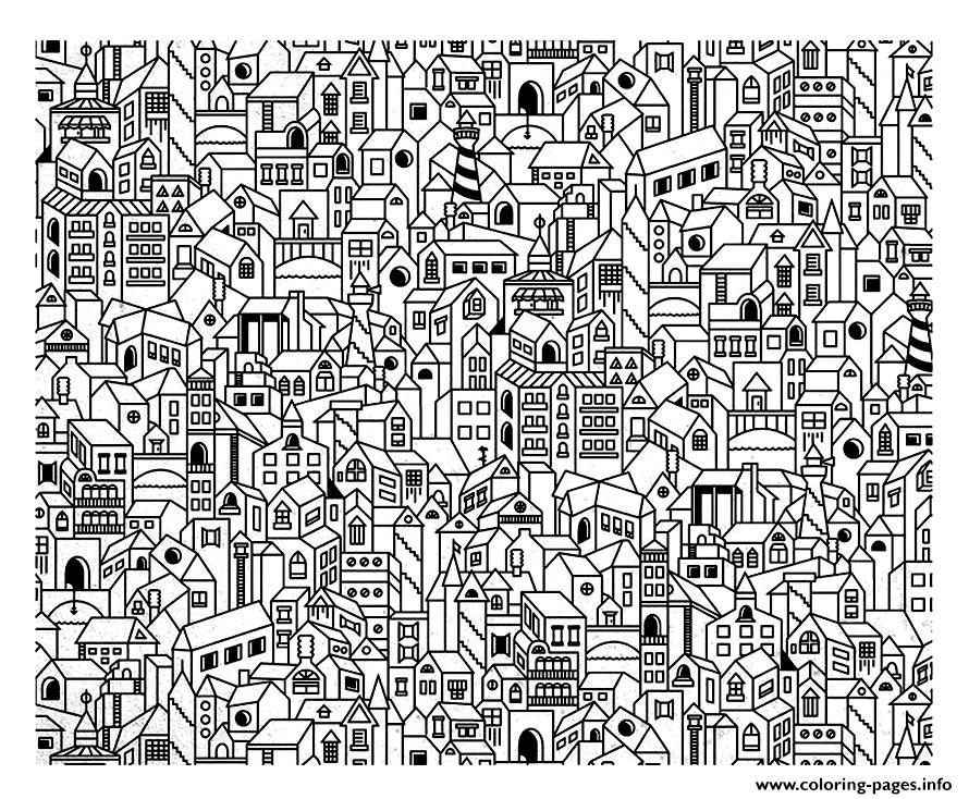 City coloring #3, Download drawings