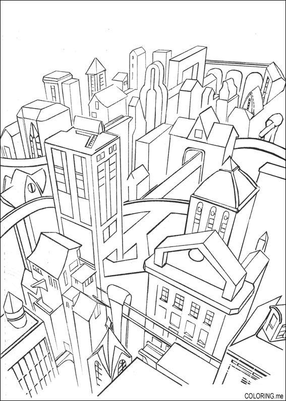 City coloring #8, Download drawings