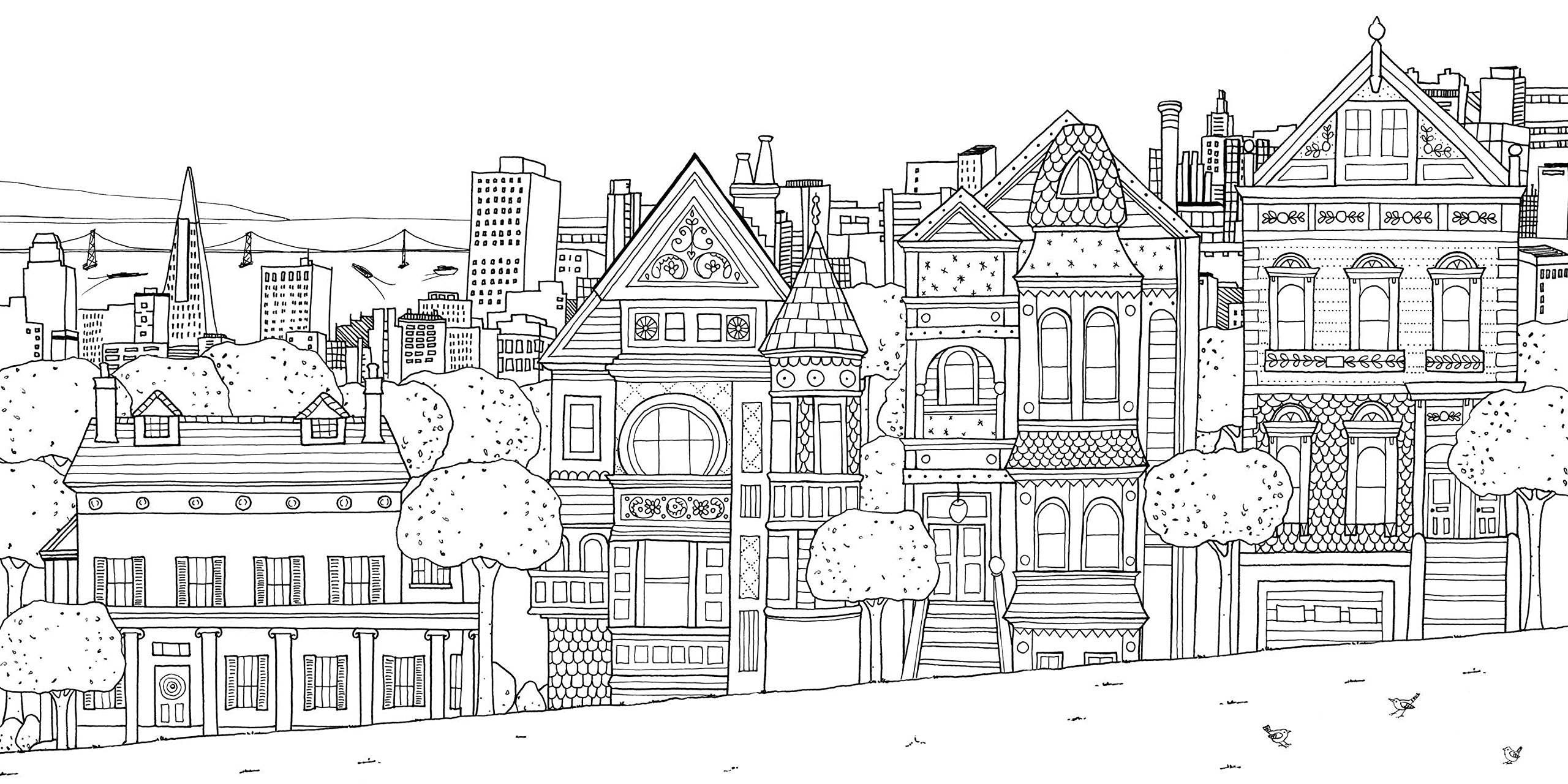 City coloring #20, Download drawings