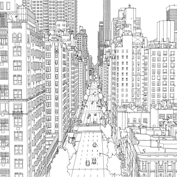 City coloring #4, Download drawings