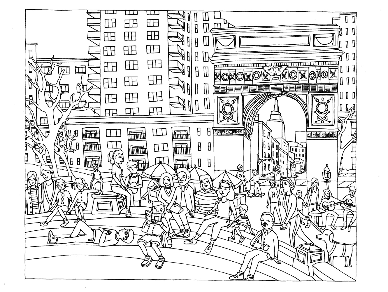 City coloring #12, Download drawings