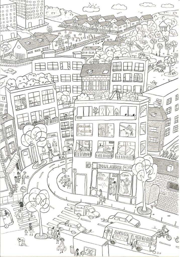 City coloring #13, Download drawings