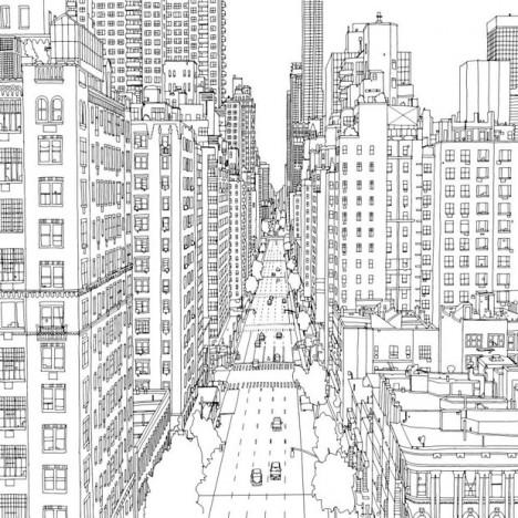 Urban coloring #20, Download drawings