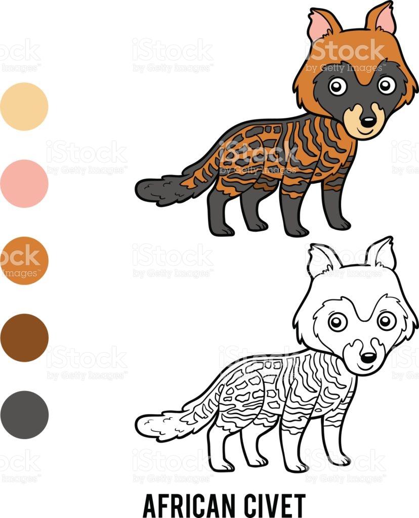 Civet coloring #12, Download drawings